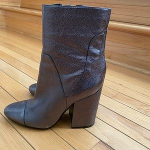 Kendal and Kylie shimmery silver booties
